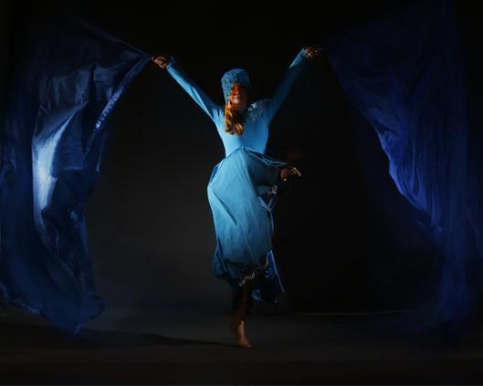Light Emitting Dance in blue, flag performance, Divine Company.jpg