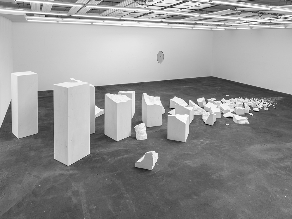 SOMETHING ABSENT WHOSE PRESENCE HAD BEEN EXPECTED; 2015; Marble; Dimensions variable