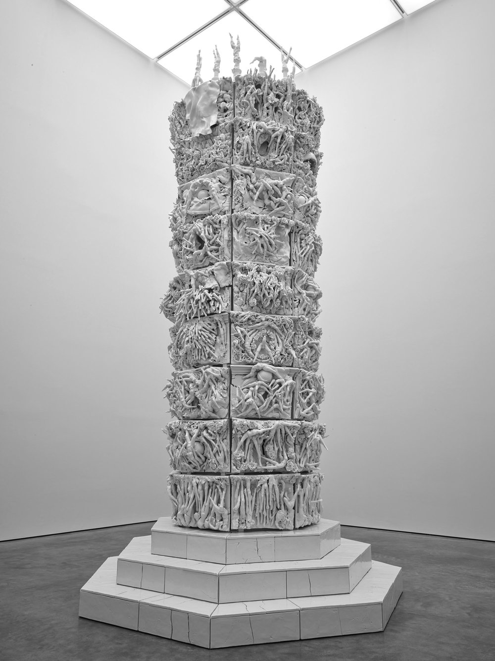 399 DAYS; 2012—2013; Porcelain and mild steel; 212 5/8 x 113 x 111 7/16 inches (540 x 287 x 283 cm)