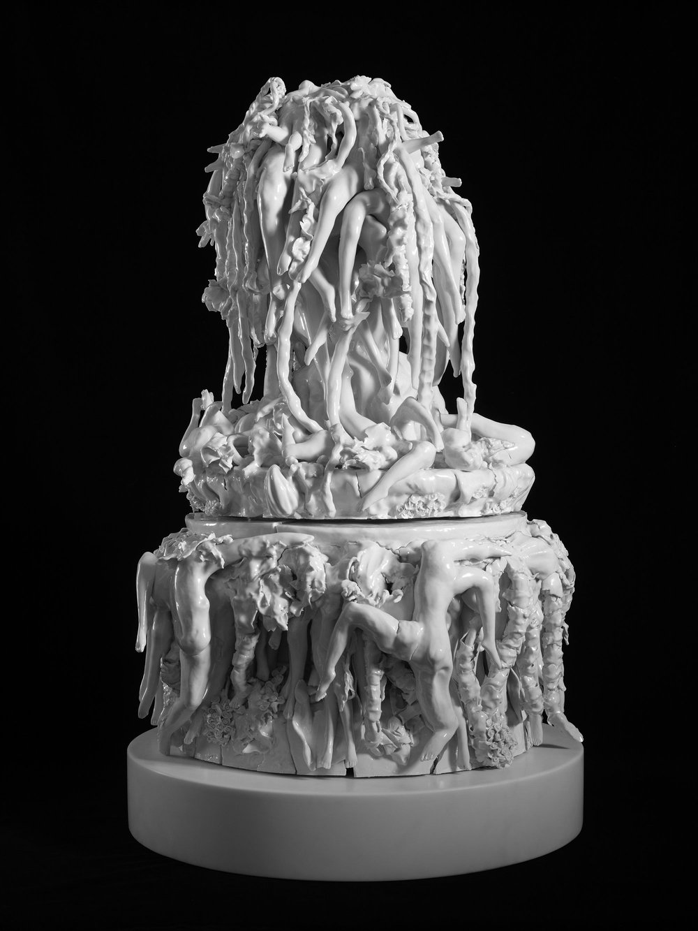THE PARADISE OF DESPAIR; 2011; Porcelain; 37 3/8 x 23 5/8 x 24 7/16 inches (95 x 60 x 62 cm)
