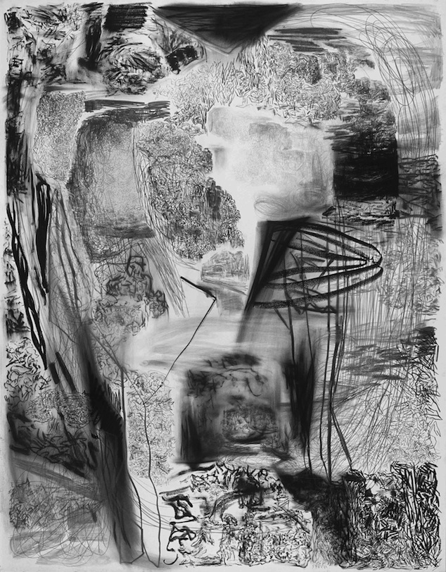 LANDSCAPE XIV; 2008; Graphite, pencil, charcoal and pastel on paper; 70.9 x 55.1 inches (180 x 140 cm)