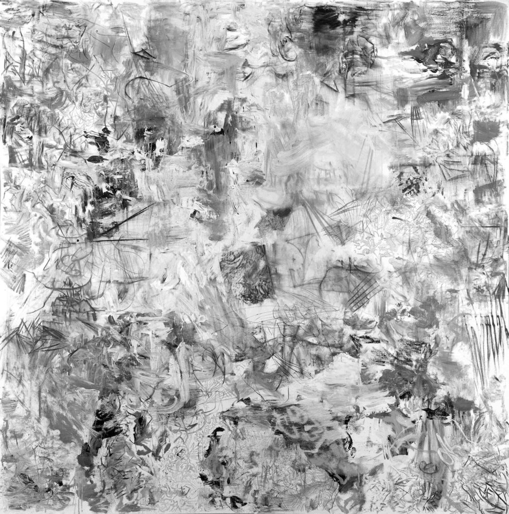 LANDSCAPE I; 2012; Mixed media on canvas; 78.7 x 78.7 inches (200 x 200 cm)
