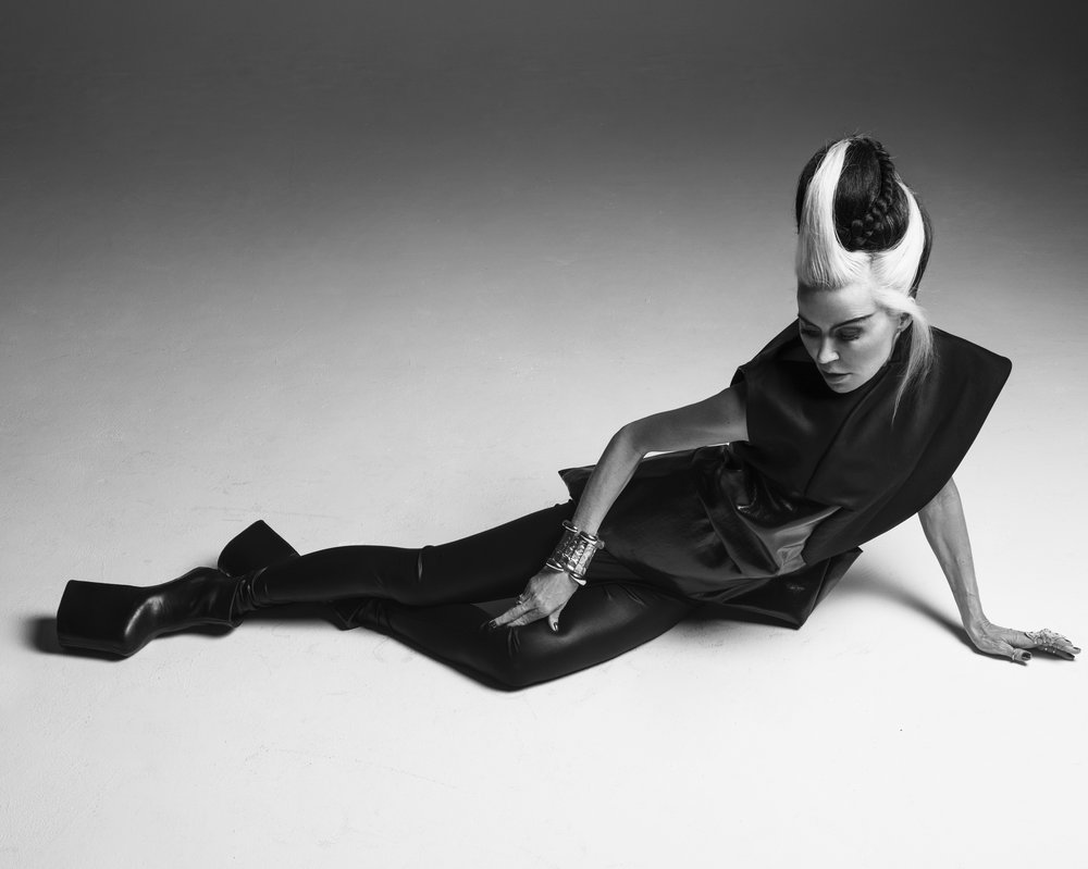 Dress: Rick Owens  Shoes: From the personal archive of Daphne Guinness