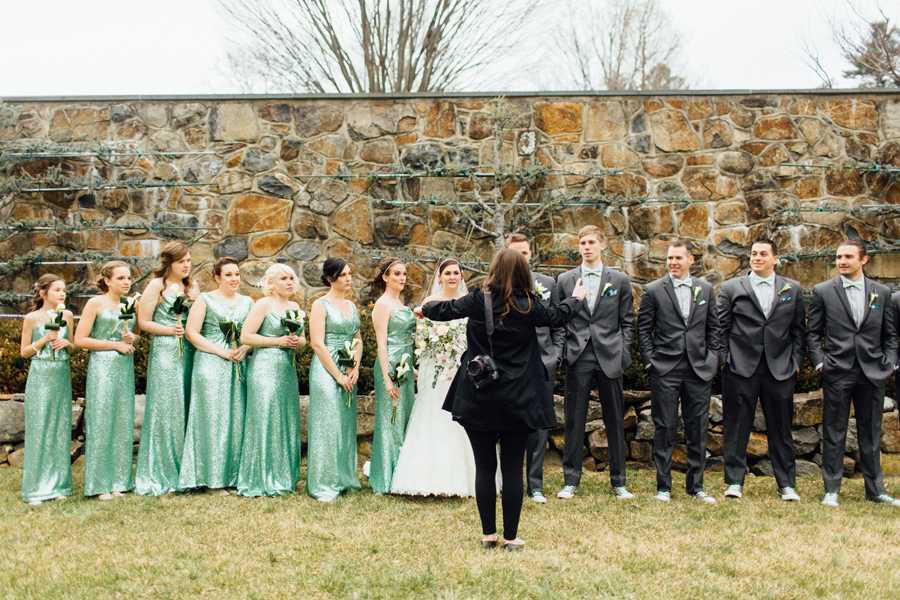 Chelsea, the master of wrangling giant bridal parties!