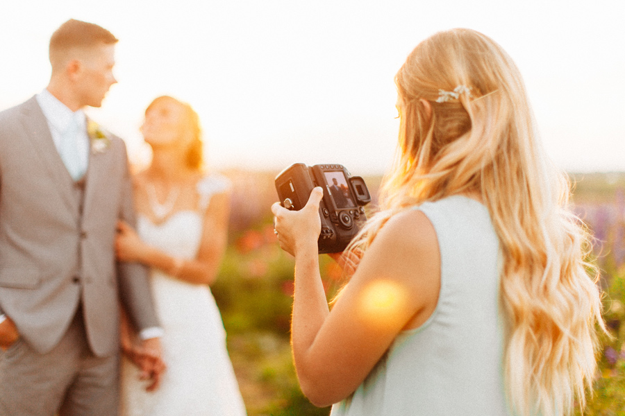 but of course, bridesmaid and all we had to take sunset photos in the famous flower field!