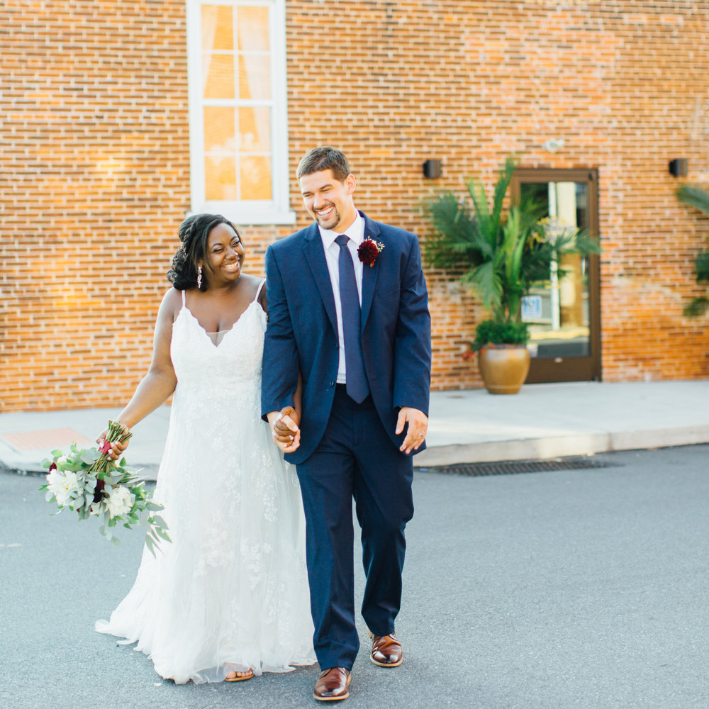 """jonathan + Nicole - """"My new husband (!!!) and I recently hired Rebekah Viola for our engagement pictures and wedding. We have known a lot of other couples who have used this company in the past and have always loved looking at our friends pictures Rebekah has taken. My MOH was married in 2016 and as a bridesmaid in her wedding, I got to see first-hand how Rebekah worked so when it came for our wedding the choice was easy! From day 1 communication was easy and open! They really worked to make sure times were available to us, were willing to travel to our engagement and wedding spots and gave us lots of help with everything we asked! We received a welcome present that was absolutely adorable! For our engagement pictures, Rebekah came to us and instantly had ideas for the pictures. For the wedding day, she and Chelsea arrived early, stayed late, helped with everything from shoes to dresses to drinks and more! We did not hire a wedding planner and luckily Rebekah Viola Co. acted as ours for the most part! Communication was seamless - emails were answered within the same day if not within the same hour, whenever we post something on sm, they are one of the first to comment or"""