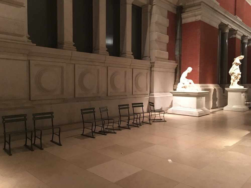 seats in Euro Sculpture Gallery
