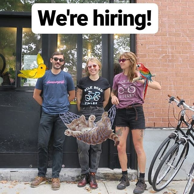 We really are! Email us a resume with your experience to jobs@silkroadcycles.net or click on the link in our profile for more info 😎 #coolcoworkers #greenpoint #womenwhowrench #friends #tools