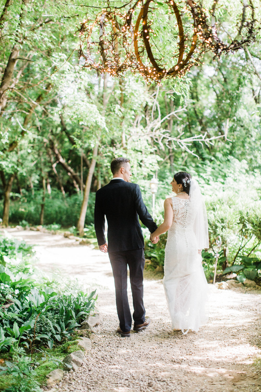 bride and groom at Trellis Wedding Ceremonies