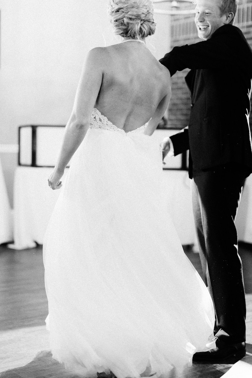 bride and groom first dance at The Charleston Event Center in White Bear Lake, MN