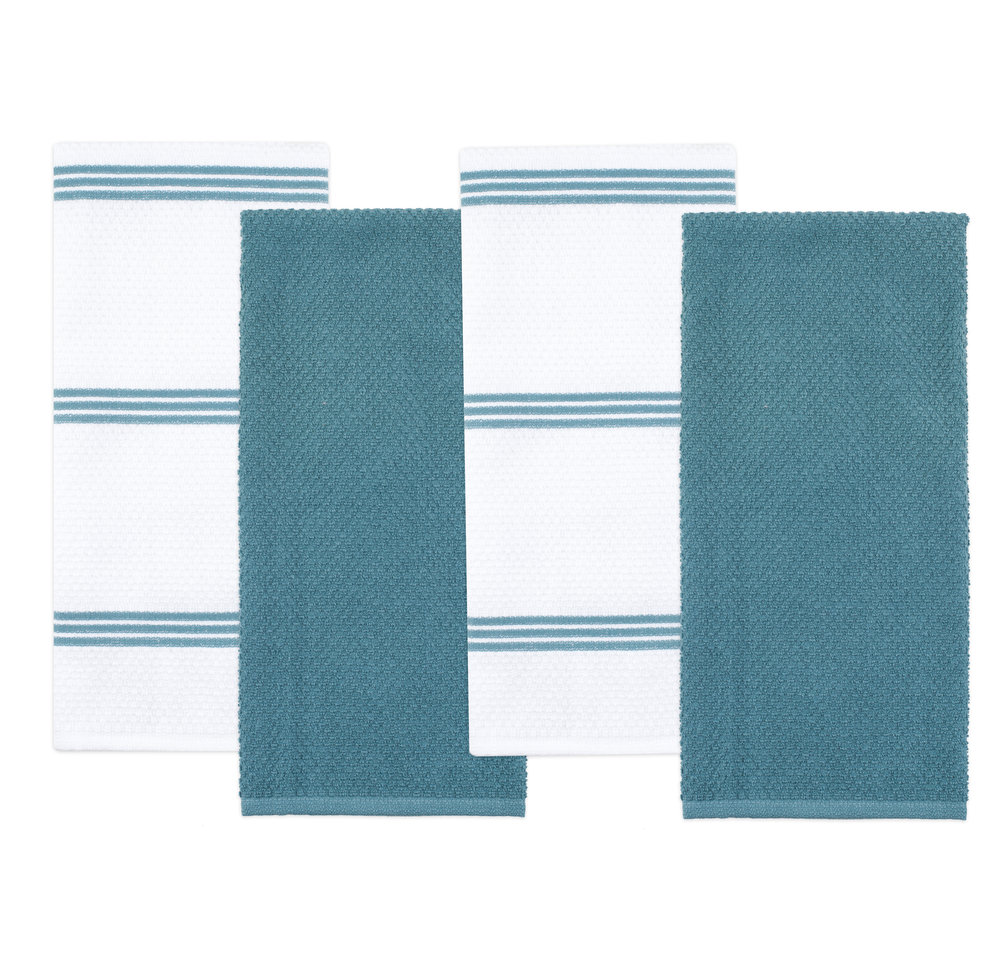 Kitchen Towel 4 Pack Blue   G