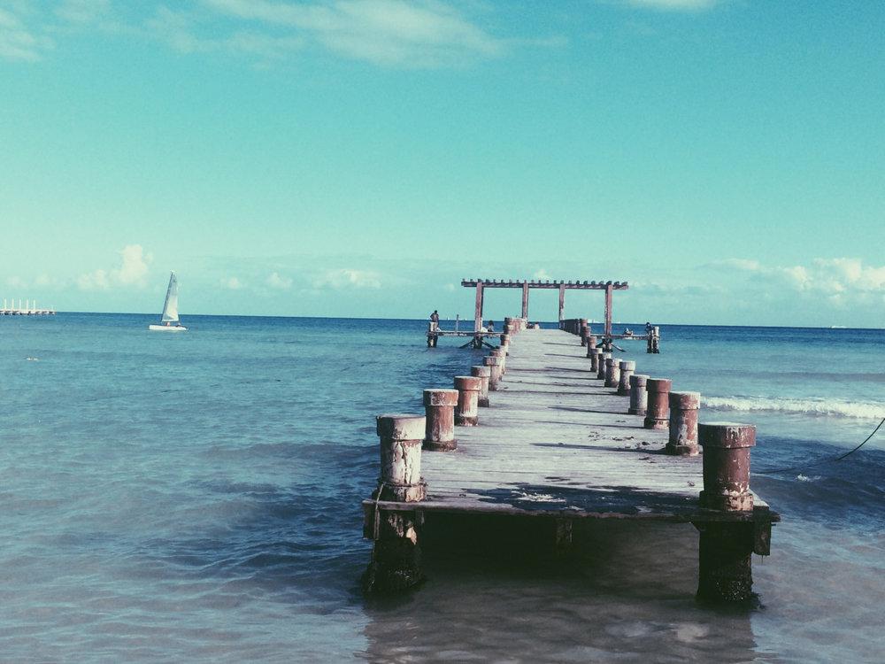 Muelle en Playa.