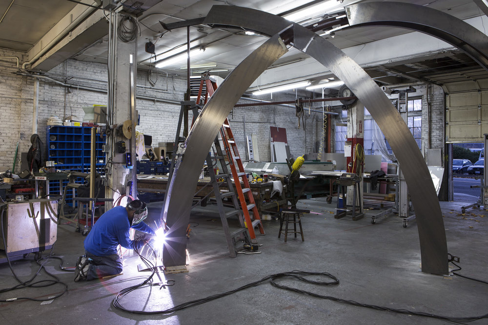 E. E Robbins Ring Sculpture in the making