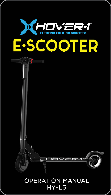 2018 E-Scooter Operation Manual