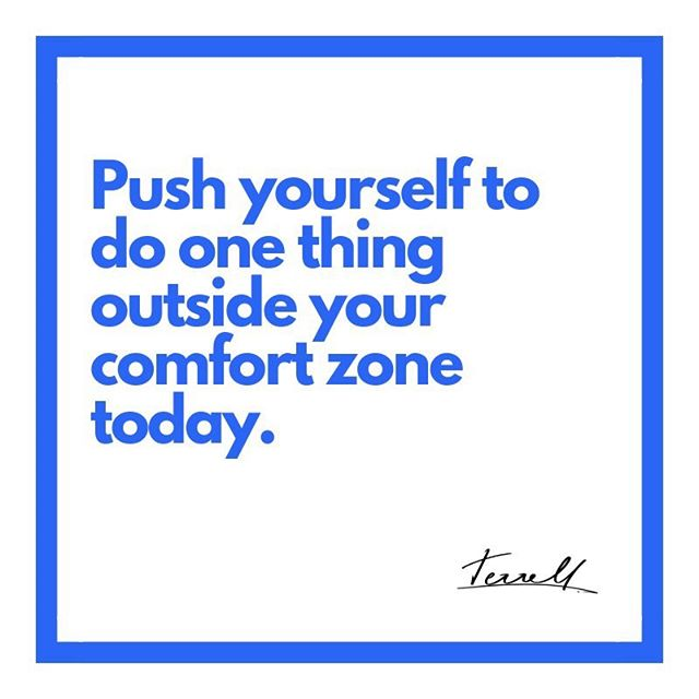 Speaking to myself with this one. • If you're anything like me, you're really trying to do big things in this last quarter of the year. And it's going to take you getting out of your comfort zone to get there. #ThursdayThoughts