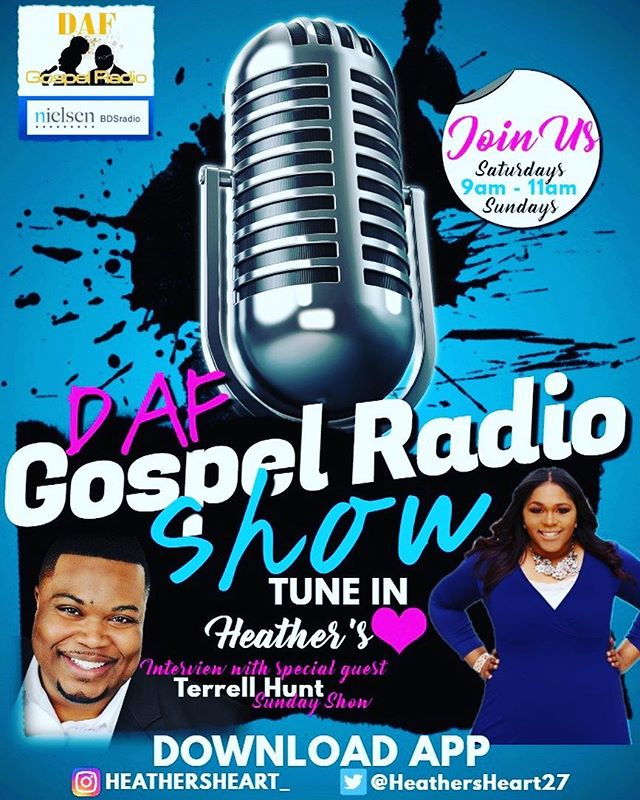 Hey fam! Hang out with me on @dafgospelradio Show tomorrow from 9-11. I'll be interviewing with the lovely Ms. Heather. You can download the DAFGospelRadio app to tune in!