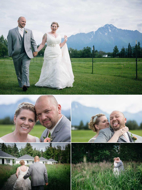 Wedding images at Paradise Alaska