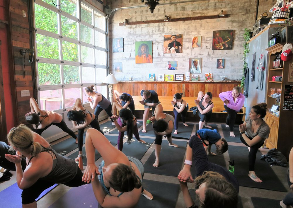 This group of yogis were amazing at our kick-off event on April 15th!