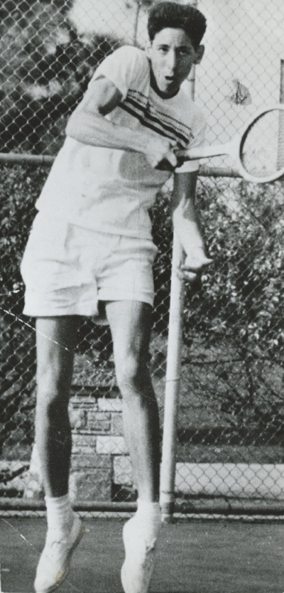 A young Jerry Solomon was no stranger to the tennis courts of Los Angeles. Photo courtesy Jerry Solomon