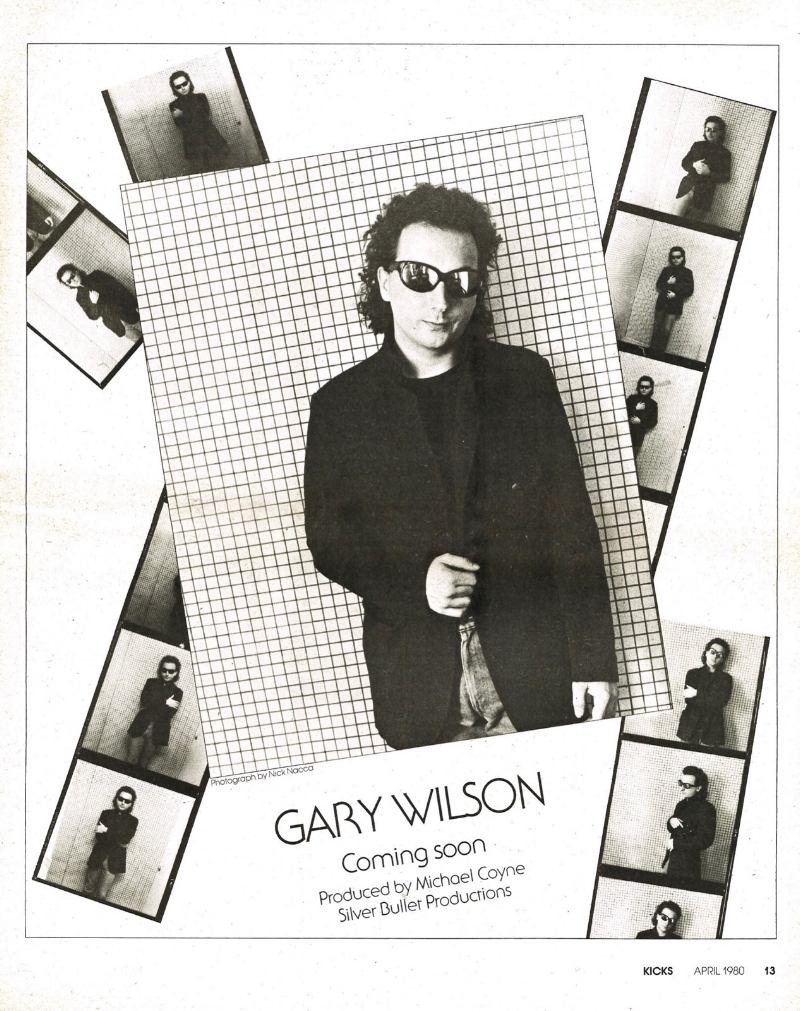The second of two ads for Gary Wilson's  Invasion of Privacy  EP, run in KICKS magazine.