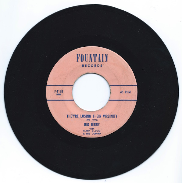"""They're Losing Their Virginity"" constitutes the B-side of this rare Jerry Solomon single."