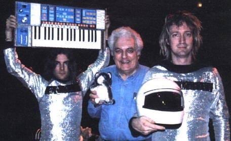 L-R: Roger Joseph Manning, Bob Moog, Brian Kehew