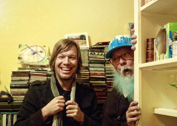 Jason Falkner and R. Stevie Moore. Photo: Steve  Keros