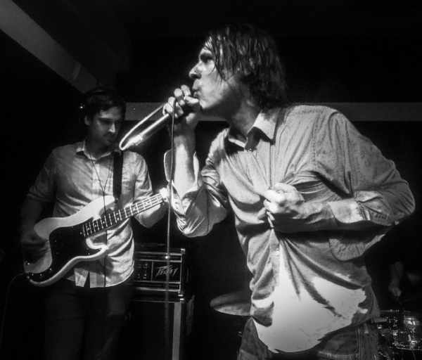 John Maus(R) and Joe Maus (L) at the Soda Bar in San Diego. October 12, 2017. Photo: WMF