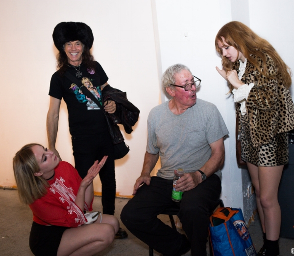 L-R: Eleanor Louise,  Don Bolles , Jerry Solomon, and Charles in 2015. Photo: Eric Spivak