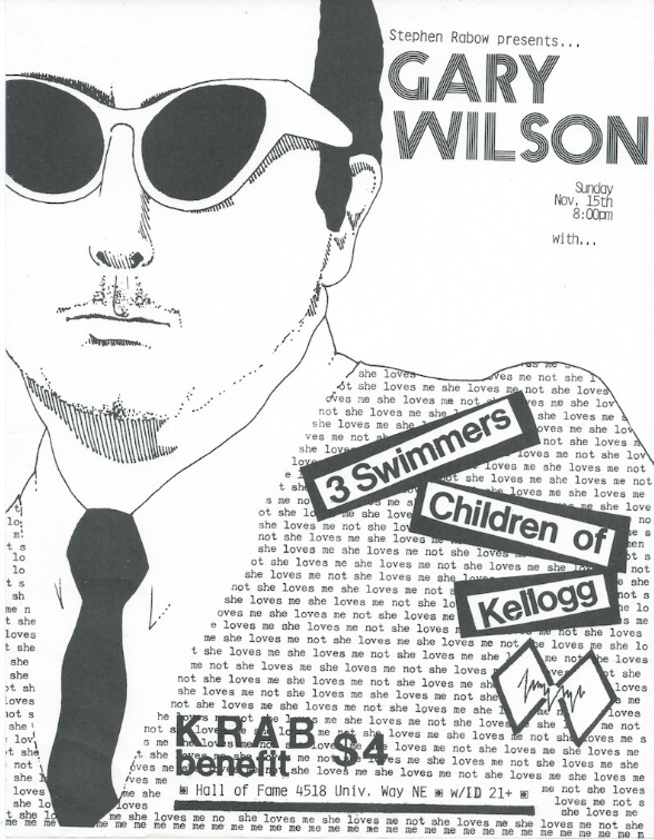 The 1981 poster which served as the template for the Live at CBGB's cover art. Stephen Rabow, the KRAB radio DJ who promoted the event, gave WMF an original poster from the event
