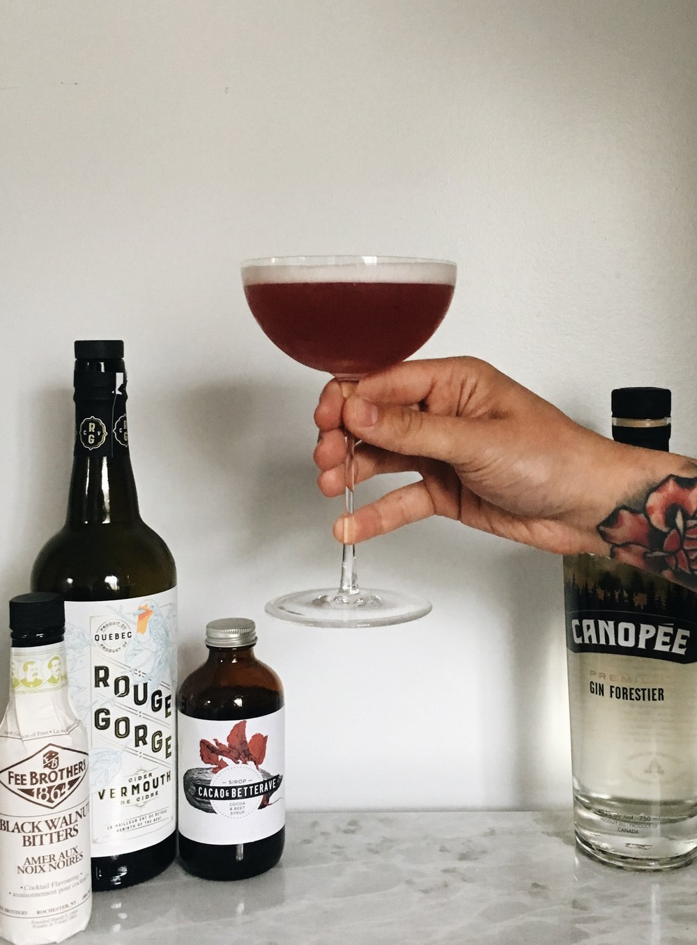 Montreal-made cocktail - Help me find a name for this spring creation