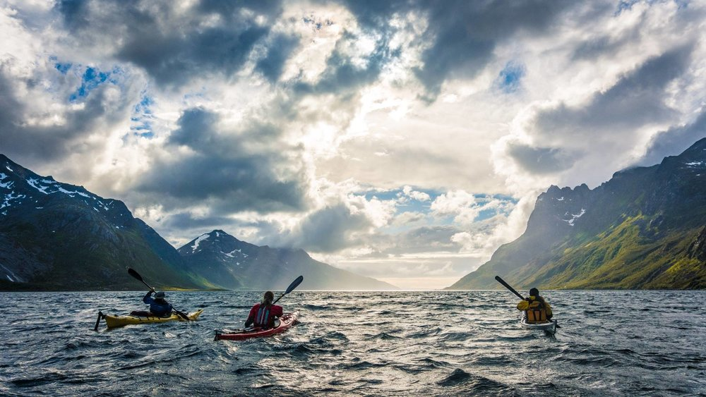 Kayaking in Ersfjorden, Troms           Photo by Rowan Romeyn