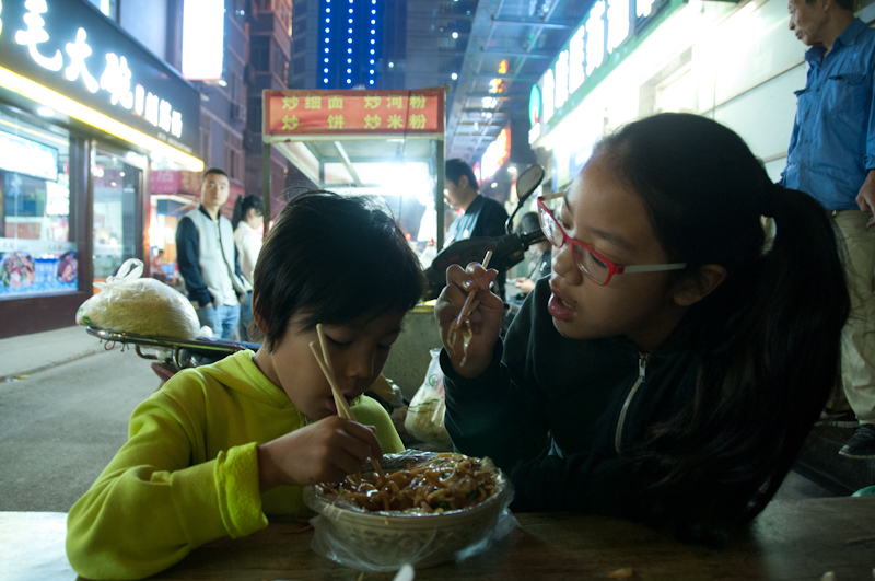 Found a night market nearby for some excellent noodles! 7 yuan ($1.50) a bowl.