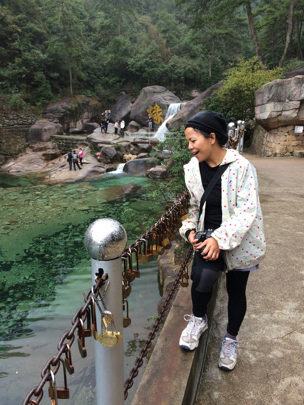 "I was in awe of the crystal green water.  ""Aw!"""