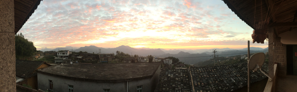 Perfect view of the sunrise from the balcony