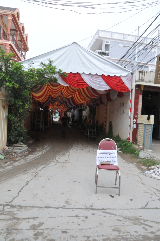 We've spotted this a few times. Streets transformed into banquet halls for a few days then back to norm.