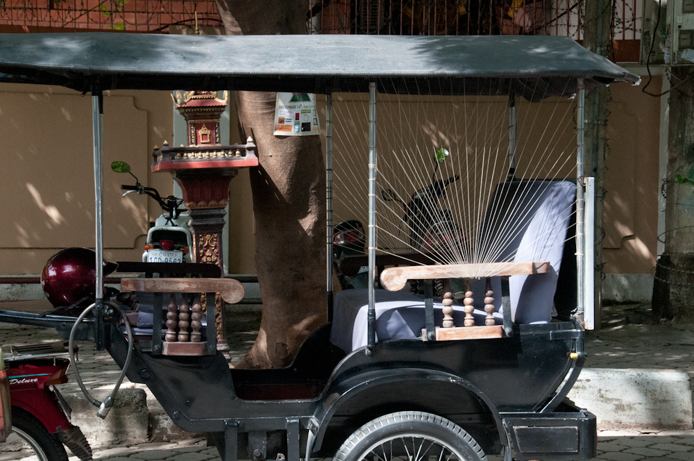 There are some really creative designs on tuk tuks. Colored threads, crocheted ones, spider webs,...