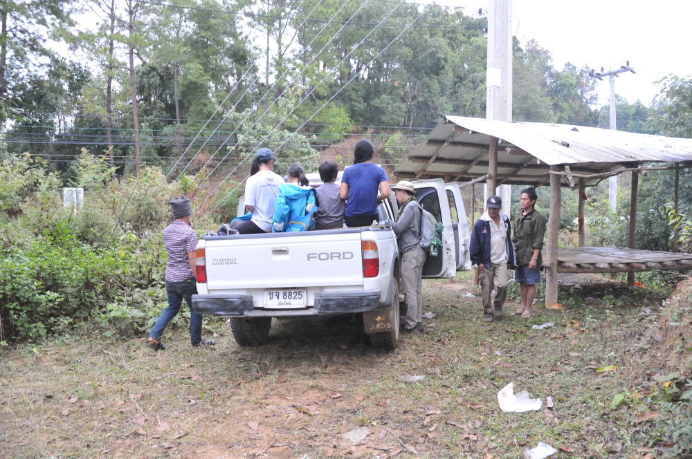 It was about 5:30pm by the time we came out of the jungle.  A few of the young men were there to drive us back to town.