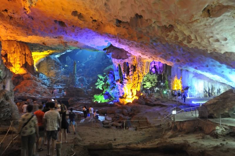 Beautiful cave that transformed into a kindergarten art canvas and attracts tourists like ants to my colourful birthday cake.