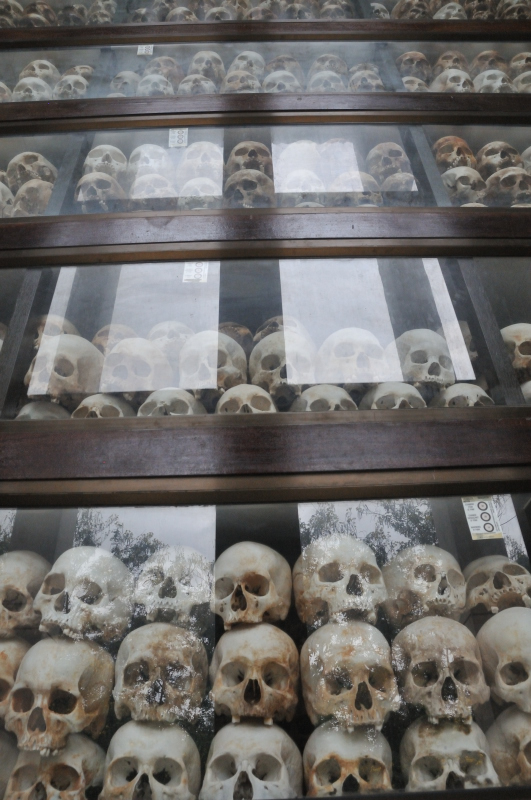 Some of the skulls found in the mass graves