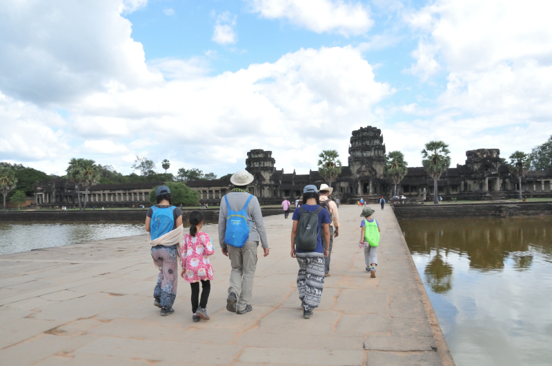 Walking to the GATE, not even to the temple itself.