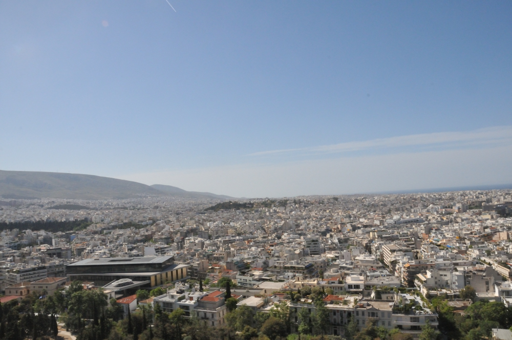 Views from the Acropolis of Athens.
