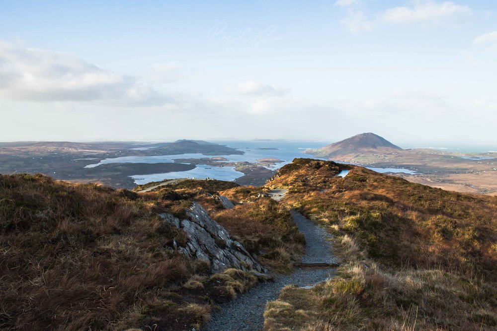 Diamond Hill in deep within Connemara National Park.