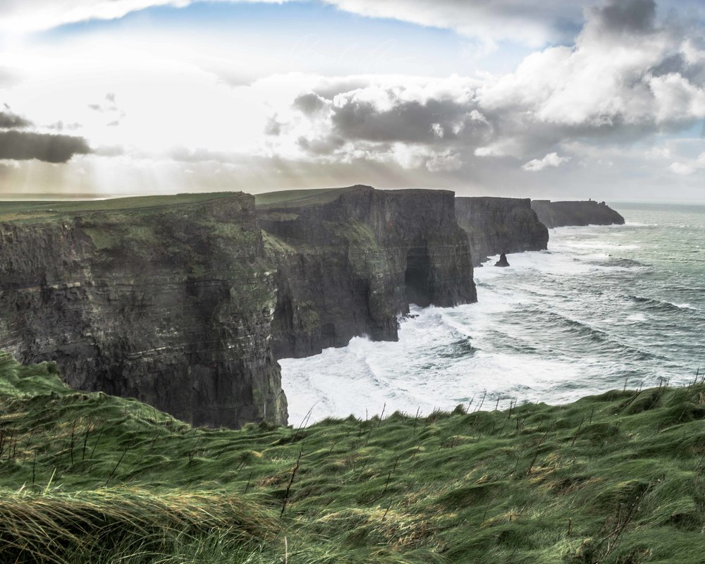 Cliffs of Moher, Ireland. Immediately following an ice storm.