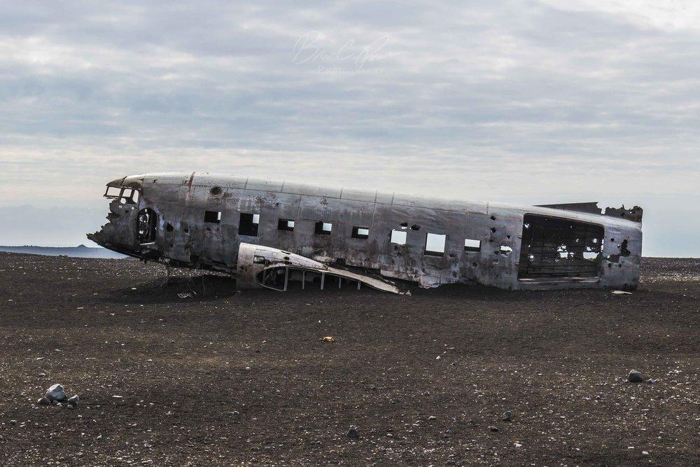 Wreck. Sólheimasandur plane wreck in South Iceland.