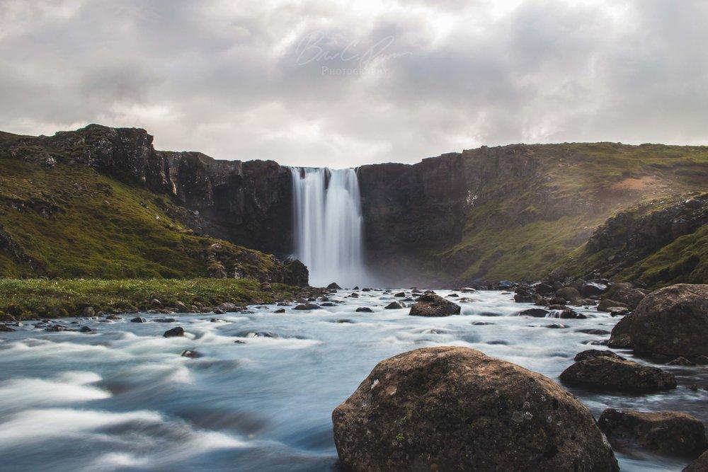 Gufufoss. High in the mountains above Seyðisfjörður.