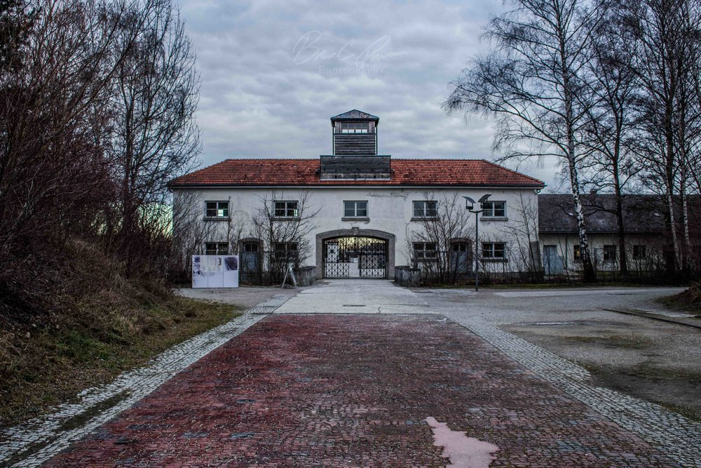 Entrance to Dachau.