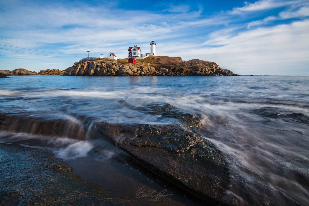 Nubble Lighthouse on Cape Neddick in York, Maine