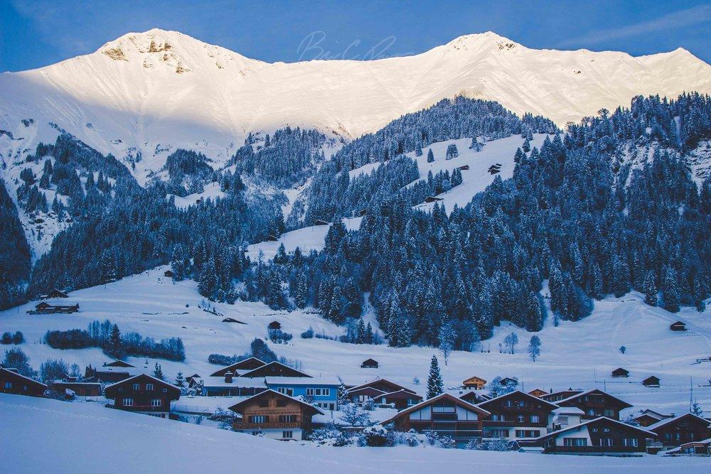 Winter Chalets in Switzerland