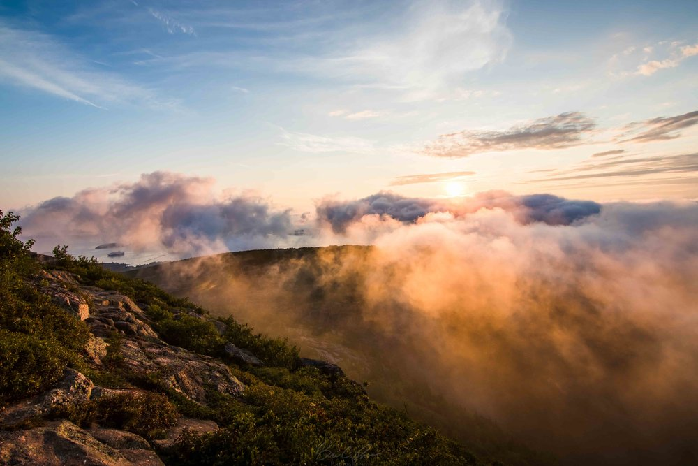 Sunrise from Cadillac Mountain in Acadia National Park, Maine